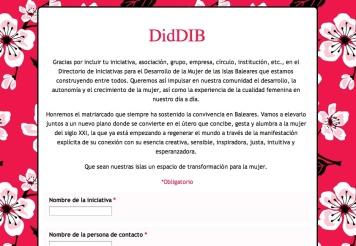 Formulario DidDIB