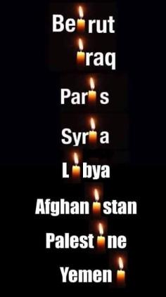 Lista de países atacados
