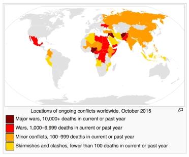Mapa de conflictos mundiales hoy